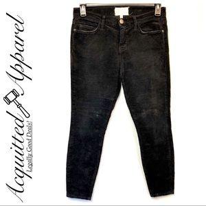 Current/Elliot Black Skinny Stiletto Corduroy Pant